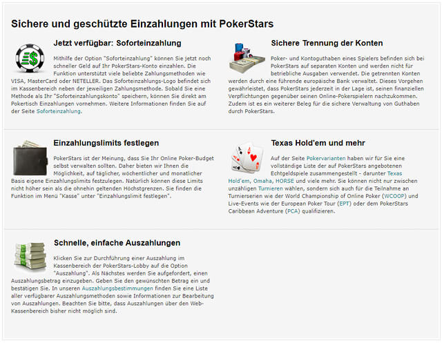Schnell und vor allem sicher - die Vorzüge von Pokerstars im Überblick (Quelle: Pokerstars)