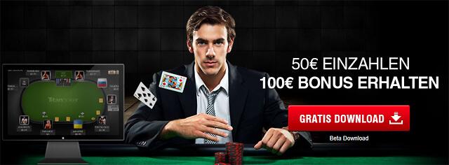 Der Bonus von Titan Poker verdoppelt die Einzahlung um bis zu 100 Euro (Quelle: Titan Poker)