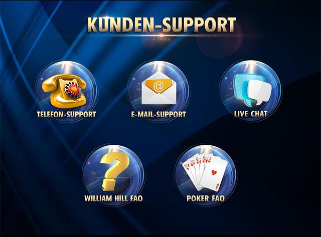 Für Fragen an William Hill Poker gibt es zahlreiche Kanäle und Optionen (Quelle: William Hill Poker)